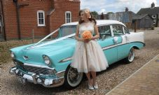 Vintage,Classic 1950's American Wedding Car Hire-Lincolnshire & Nottingham Area